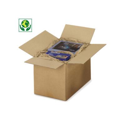 Hnědé klopové krabice z třívrstvé vlnité lepenky RAJABOX, paletovatelné