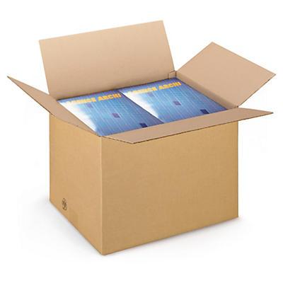 Hnedé klopové krabice z trojvrstvovej vlnitej lepenky RAJABOX, od 300 do 390 mm