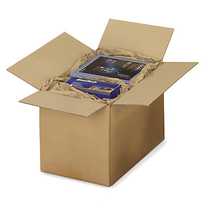 Hnedé klopové krabice z trojvrstvovej vlnitej lepenky RAJABOX, paletovateľné