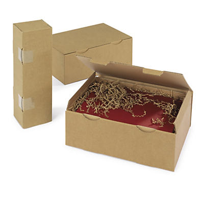 Hnedé poštové krabice RAJA na 2 fľaše