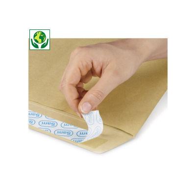 Hnědé zásilkové obálky samolepicí s krycím proužkem