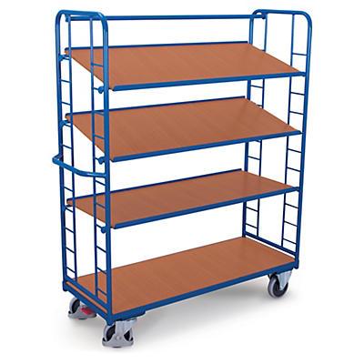 Hoge etagewagen met kantelbare legborden