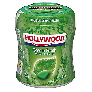 HOLLYWOOD Easy Box chewing-gum Green Fresh sans sucre - boîte de 60