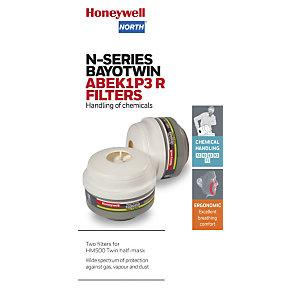 Honeywell Coppia di filtri di ricambio ABEL-P3, Per semi maschera HM 500