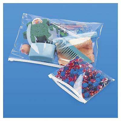 Sachet plastique haute brillance à curseur 75 microns##Hoogglanzend plastic zakje met zipsluiting 75 micron