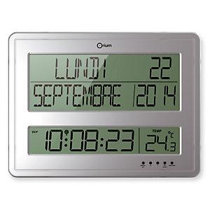Horloge digitale calendrier radio-contrôlée Orium