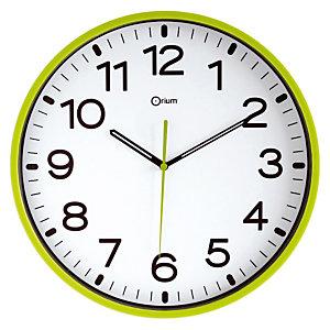 Horloge Fun à quartz diam.30 cm vert anis