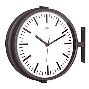 Horloge Harvey double face diamètre 26 cm