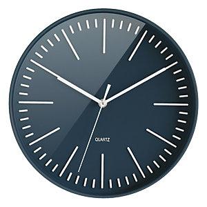 Horloge à quartz Atoll Ø 30cm bleu canard