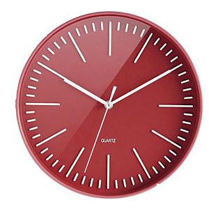 Horloge à quartz Atoll Ø 30cm brique