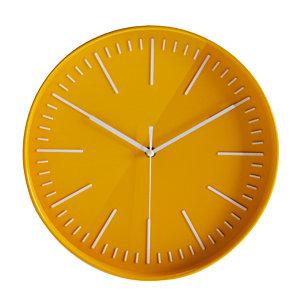 Horloge à quartz Atoll Ø 30cm jaune