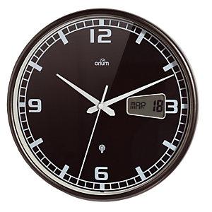 Horloge radio-pilotée Orium Ø 27 cm coloris noir