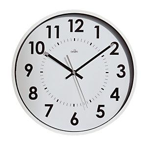 Horloge silencieuse Abylis Ø 30 cm coloris blanc
