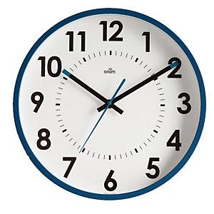 Horloge silencieuse Abylis Ø 30 cm coloris bleu
