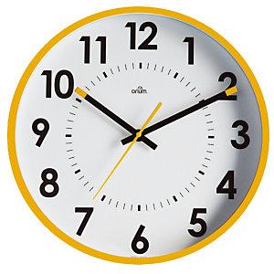 Horloge silencieuse Abylis Ø 30 cm coloris jaune ocre