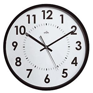 Horloge silencieuse Abylis Ø 30 cm coloris noir
