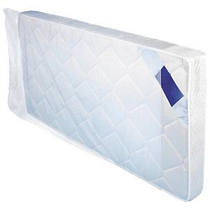 Housse plastique 50% recyclé transparente pour literie 150 microns