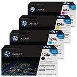 HP 124A, Q6000A / Q6001A / Q6002A / Q6003A, Tóner Original, Negro, Amarillo, Cian, Magenta