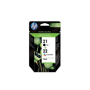 HP 21 / 22, SD367AE, Cartucho de Tinta, Negro, Tricolor