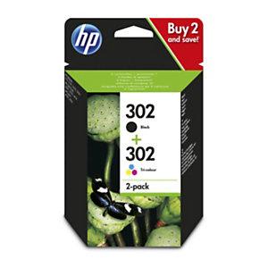 HP 302, X4D37AE, Cartucho de Tinta, Negro, Tricolor