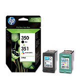 HP 350 / 351, SD412EE, Cartucho de Tinta, Negro, Tricolor