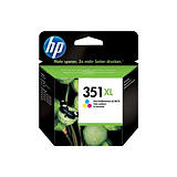 HP 351XL, CB338EE, Cartucho de Tinta, Tricolor; Alta Capacidad