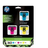 HP 363 Cartouche d'encre authentique Pack 3 couleurs (CB333EE) - Cyan, Magenta, Jaune