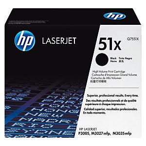 HP 51X Toner authentique  grande capacité (Q7551X) - Noir