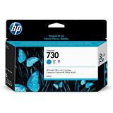 HP 730, Original, Encre à colorant, Cyan, HP, HP DesignJet T1700 Printer series, Impression à jet d'encre P2V62A