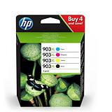 HP 903XL Cartouche d'encre authentique grande capacité Pack 4 couleurs (3HZ51AE) - Noir, Cyan, Magenta, Jaune
