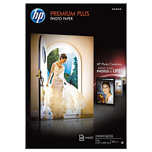 HP A3 White Glossy Photo Paper 300gsm (paquet 20 feuilles)