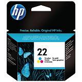 HP Cartuccia inkjet 22, C9352AE, Tricolore, Pacco singolo