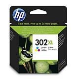 HP Cartuccia inkjet 302XL, F6U67AE, Ciano, Magenta, Giallo, Pacco singolo Alta Capacità