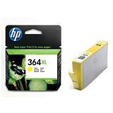 HP Cartuccia inkjet 364XL, CB325EE, Giallo, Pacco singolo Alta Capacità
