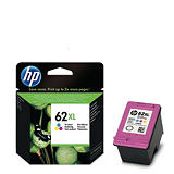 HP Cartuccia inkjet 62XL, C2P07AE, Tricolore, Pacco singolo Alta Capacità