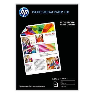 Hp - Confezione da 150 Fogli Carta professionale per stampe laser Hp lucida 150 g/m2 A4/210 x 297 mm - CG965A