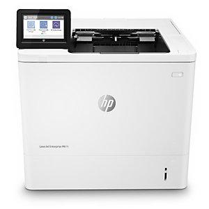 HP LaserJet Enterprise M611dn, Laser, 1200 x 1200 DPI, A4, 65 ppm, Impression recto-verso, Blanc 7PS84A