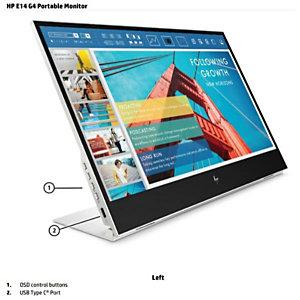 HP, Monitor desktop, Hp e14 g4 portable monitor fhd ips, 1B065AT