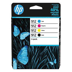HP Pack de 4 cartuchos de tinta original HP 912 negro/cian/magenta/amarillo