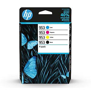 HP Pack de 4 cartuchos de tinta original HP 953 negro/cian/magenta/amarillo