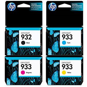 HP Pack de 4 tintas originales HP 932 negro y 933 cian/magenta/amarillo