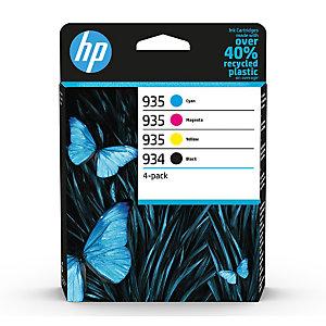HP Pack de 4 tintas originales HP 934 negro y 935 cian/magenta/amarillo