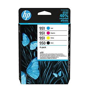 HP Pack de 4 tintas originales HP 950 negro y 951 cian/magenta/amarillo