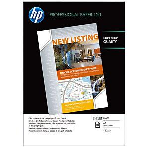 """Hp Papier Impression A3 (297 x 420 mm) """"Professionnel"""" Blanc 120 g/m² 100 Feuilles"""