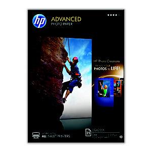 HP Papier photo brillant A4 blanc 250g Advanced pour Jet d'encre - Boîte de 25 feuilles