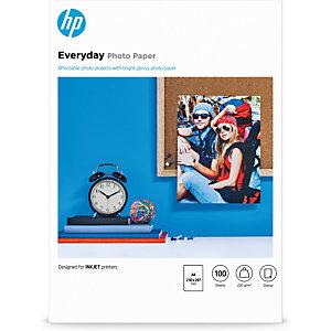 HP Papier photo brillant Everyday - 100 feuilles/A4/210 x 297 mm, Gloss, 200 g/m², Jet d'encre, A4, 21x29.7 cm, 100 feuilles Q2510A