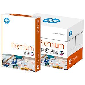 HP Premium Papel Multifunción para Faxes, Fotocopiadoras, Impresoras Láser e Impresoras de Inyección de Tinta, Blanco, A4, 80 g/m²