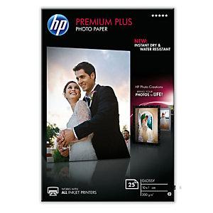 HP Premium Plu Carta fotografica 130 x 180 mm per Stampanti Inkjet, 300 g/m², Bianca lucida (confezione 20 fogli)