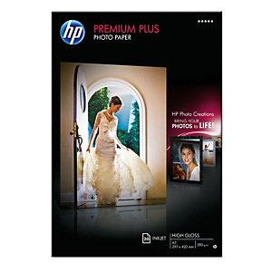 HP Premium Plus Carta fotografica A3 per Stampanti Inkjet, 300 g/m², Bianca lucida (confezione 20 fogli)