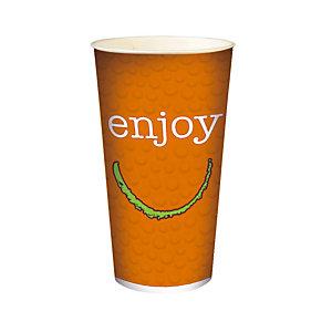 HUHTAMAKI Gobelet en carton ENJOY pour boissons froides, 50 cl colis de 50